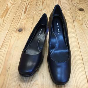 レディースパンプス 3.5cmヒール REGAL 6668 ブラック ローヒールパンプス リーガル レディース 靴|okamotoya