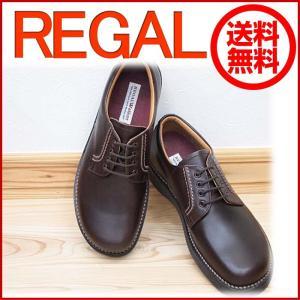 REGAL リーガル リーガルウォーカー JJ23 JJ23AG プレーントゥ ダークブラウン メンズ ビジネスシューズ 靴 足元からの清潔感アップ|okamotoya