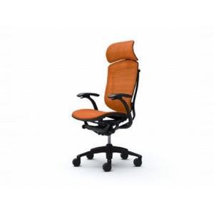 オカムラ オフィスチェア Contessa コンテッサ 大型ヘッドレストタイプ デザインアーム ブラックフレーム ネオブラックボディ 座メッシュ 送料込み|okamura