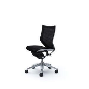 オカムラ オフィスチェア Baron バロン ホワイトボディ ローバック肘なし ポリッシュフレーム メッシュ座|okamura