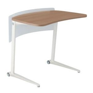 オカムラ シフト Shiftテーブル、650W、水平タイプ、ポリッシュ、幕板付き オカムラ公式ショップ PayPayモール店
