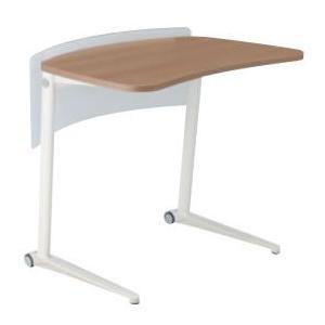 オカムラ シフト Shiftテーブル、650W、水平タイプ、ホワイト、幕板付き オカムラ公式ショップ PayPayモール店