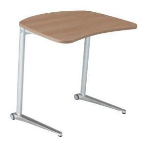 オカムラ シフト Shiftテーブル、650W、傾斜タイプ、ポリッシュ オカムラ公式ショップ PayPayモール店