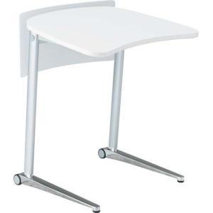 オカムラ シフト Shiftテーブル、650W、傾斜タイプ、ホワイト、幕板付き オカムラ公式ショップ PayPayモール店