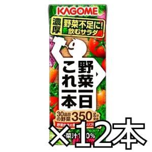カゴメ 野菜一日これ一本 200ml x 12本|okashinomarch