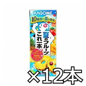 カゴメ夏のフルーツこれ一本 200ml x 12本|okashinomarch