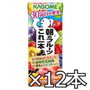 カゴメ 朝のフルーツこれ一本 200ml x 12本|okashinomarch