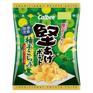 カルビー 堅あげポテト 柚子こしょう味 60g 12コ入り 2020/10/26発売 (4901330914868)|okashinomarch