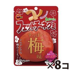 (全国送料無料) ブルボン フェットチーネグミ すっぱい梅味 50g 8コ入り メール便 (4901360339389x8m)|okashinomarch