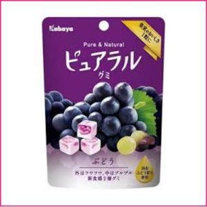 カバヤ ピュアラルグミ ぶどう 45g 8コ入り 2018/02/13発売|okashinomarch