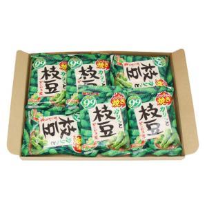 (全国送料無料)ギンビズ 枝豆ノンフライ焼き 20g×6袋 1コ入り メール便 (4901588800104sm)|okashinomarch