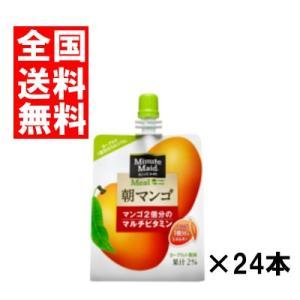(全国送料無料)コカコーラ ミニッツメイド 朝マンゴ 180gパウチ 24本×1ケース|okashinomarch