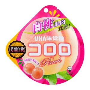 UHA味覚糖 コロロ 白桃 40g 6コ入り 2019/03/25発売|okashinomarch