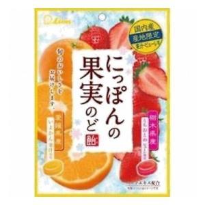 ライオン菓子 にっぽんの果実 いよかんととちおとめ 72g 6コ入り (4903939013133)|okashinomarch