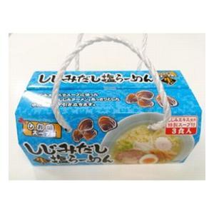 (単品) 森田製菓 しじみだし塩ラーメン 420g|okashinomarch