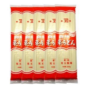 児玉製麺 白梅 平うどん 250g(2〜3人前・つゆ付) 5コ入り okashinomarch