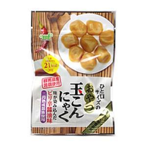 村岡食品 おやつ玉蒟蒻 ピリ辛醤油味 30g 10コ入り|okashinomarch