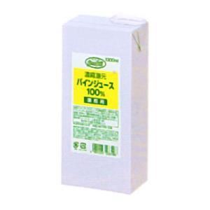 UCC業務用 グリーンフィールド 濃縮還元 パインジュース 100% AB1000ml×6個 (520532000)|okashinomarch