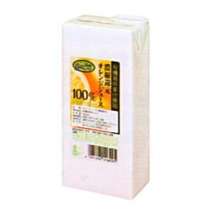 UCC業務用 グリーンフィールド 有機栽培果汁使用 オレンジジュース 100% AB1000ml×6個|okashinomarch