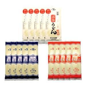 児玉製麺 白梅 丸・平・減塩 三種のうどんセット(つゆ付) 計15コ入り okashinomarch