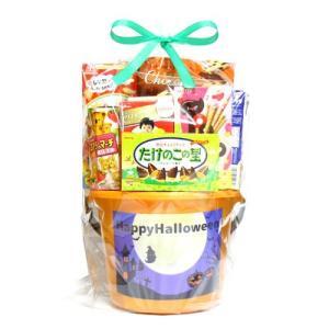 ハロウィンデザインのバケツにお菓子を詰め合わせた、当店オリジナルのメガ盛りセットです。 ハロウィンパ...