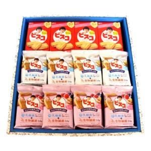 プレゼント ギフト グリコ ビスコ(クリームサンドビスケット・シンバイオティクス2種) 全3種 計32個入 (ギフトセット E)|okashinomarch