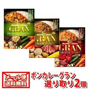 (全国送料無料)大塚食品 ボンカレーグラン3種 選り取り2コセット メール便 okashinomarch