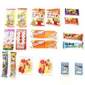 (全国送料無料)おかしのマーチ 遊び心の分け合いっこ うまい棒・ベビースターなどの駄菓子セット (13種・計18コ) メール便|okashinomarch