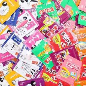 (全国送料無料) おかしのマーチ お弁当諸君! + のりたま&バラエティー ミニパックふりかけセット(2種各20袋・計40袋) メール便 (omtmb0567)|okashinomarch