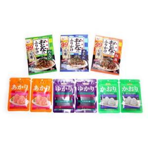 (全国送料無料)おとなのふりかけ(3種類)& ゆかり・かおり・あかりセット(6種・全9コ) メール便 おかしのマーチ (omtmb0615)|okashinomarch