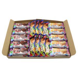 (全国送料無料) グリコ バランスオンminiケーキ(2種・各10コ)& 毎日果実〈フルーツたっぷりのケーキバー〉(8コ)セット メール便|okashinomarch
