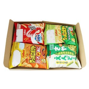 (全国送料無料)カルビー 小袋スナック(4種・全4コ)セット メール便|okashinomarch