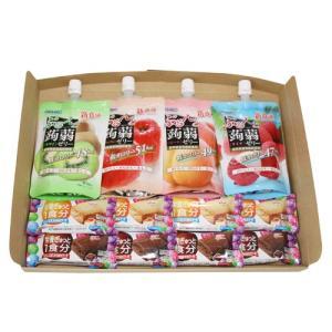 (全国送料無料) ぷるんと蒟蒻ゼリースタンディング(4種・各1コ)&  バランスオンminiケーキ(2種・各4コ)セット メール便|okashinomarch