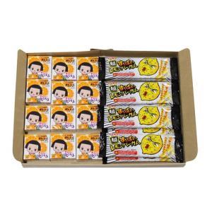 (全国送料無料) マルカワ チコちゃん オレンジガム(12コ)& すっぱいレモンバーガム(8コ)セット メール便 okashinomarch