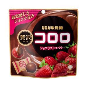 UHA味覚糖贅沢コロロショコラストロベリー54g×6入