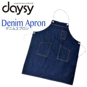 ● 商品情報 ●  <メーカー名> daysy  <商品名> デニムエプロン NS-60【白ヒモタイ...