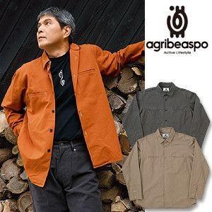 [AB13] ビアスポ/ニューワークシャツ メンズ 綿コンパクトオックス アウトドアに|okayama-styleshop