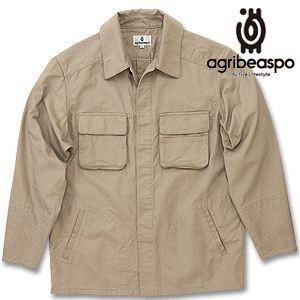 [AB16] ビアスポ/シャツ メンズ 手甲ファーマーシャツ(ベージュ生地染)|okayama-styleshop
