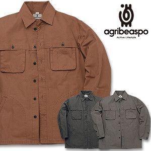 [AB7] ビアスポ/シャツジャケット メンズ ニュー手甲ファーマーズシャツ 綿コンパクトオックス|okayama-styleshop