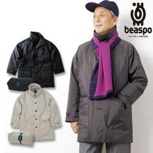 [BS216] ビアスポ/暖軽ハーフコート/メンズ軽量防寒コート、トラベルコート、コンパクト収納|okayama-styleshop