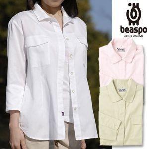[BS248] ビアスポ/BB.Cレディス七分袖シャツ/レディース、羽織りシャツ、オーバーシャツ、開襟、クールビズ|okayama-styleshop