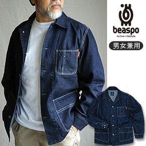 [BS240] ビアスポ/ジャケット メンズ レディース デニムカバーオール|okayama-styleshop