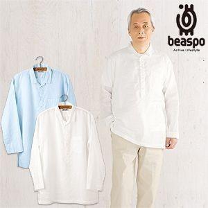 [BS322] ビアスポ/リネン 長袖シャツ メンズ ファインラミーオーバーシャツ|okayama-styleshop