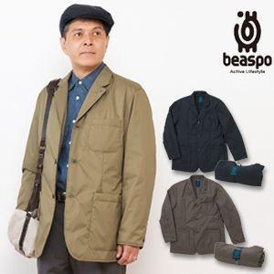 [BS286] ビアスポ/暖軽(あったかる)ジャケット/メンズ、軽量350g、コンパクト収納、トラベルジャケット、テーラードジャケット|okayama-styleshop