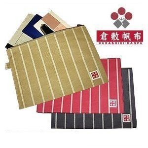 [ST-004500] ファイルバッグ ストライプ A5サイズ/倉敷帆布バイストン okayama-styleshop