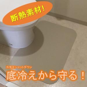 48cm x 65cm 角型 トイレ マット 洗濯いらず ずれない 断熱 抗菌 やわらか ふく楽 オフホワイト