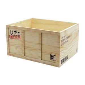 SHIPPING BOX スタンダード (L) 木 ウッド ...