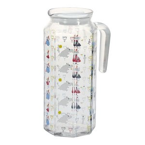 MOOMIN 多角形ガラスポット ムーミン/ピッチャー/ティーポット/麦茶/冷蔵庫/紅茶 北欧 雑貨 プレゼント 贈り物 お返し ギフト おしゃれ かわいい プチプラ 父の|okayulabo