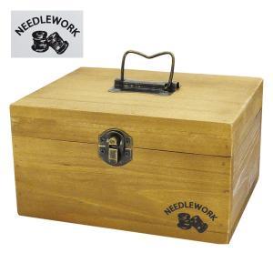 NEEDLEWORK ウッドソーイングボックス(M) 裁縫箱/救急箱/裁縫道具入れ/収納/小物入れ 北欧 雑貨 プレゼント 贈り物 お返し ギフト おしゃれ かわいい プチプラ|okayulabo