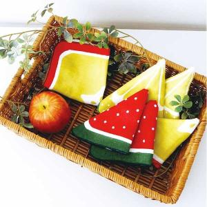 フルーツタオルハンカチ コットン100%/パイル/フルーツ/果物 北欧 雑貨 プレゼント 贈り物 お返し ギフト おしゃれ かわいい プチプラ 父の日 祝い 誕生日 贈り|okayulabo